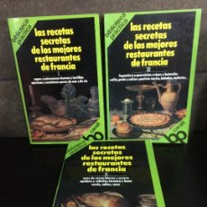 Libros de segunda mano: LAS RECETAS DE LOS MEJORES RESTAURANTES DE FRANCIA. 3 TOMOS. CARALT 1988. OBRA COMPLETA.. Lote 207069926