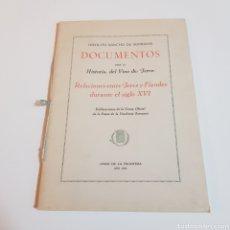 Libros de segunda mano: DOCUMENTOS PARA LA HISTORIA DEL VINO DE JEREZ 1959 HIPOLITO SANCHO DE SOPRANIS. Lote 241763695