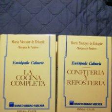 Libros de segunda mano: MARIA MESTAYER DE ECHAGÜE. LA COCINA COMPLETA /CONFITERÍA Y REPOSTERÍA. TAPA DURA. Lote 207878546