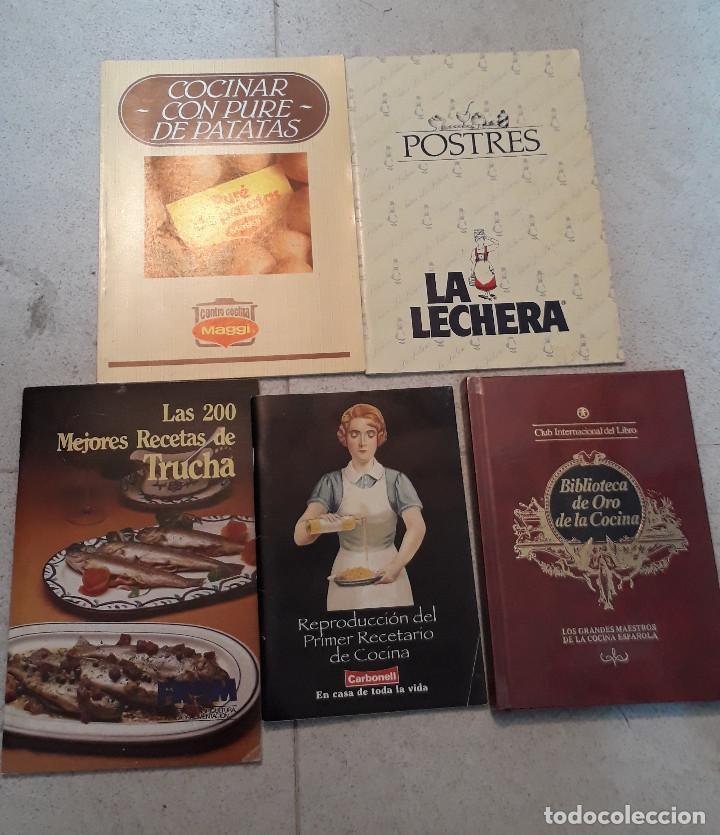 LOTE 5 LIBROS DE COCINA (Libros de Segunda Mano - Cocina y Gastronomía)