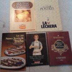 Libros de segunda mano: LOTE 5 LIBROS DE COCINA. Lote 208580437