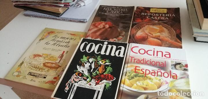 G-6 LIBRO LOTE DE 5 LIBROS DE COCINA LOS DE FOTO UNO DE ELLOS EN MAL ESTADO (Libros de Segunda Mano - Cocina y Gastronomía)