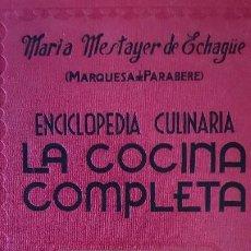 Libros de segunda mano: LA COCINA COMPLETA - Mª. TERESA MESTAYER DE ECHAGÜE ED.ESPASA-CALPE S.A. - AÑO 1979 (ILUST). Lote 140498550