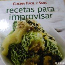 Libros de segunda mano: COCINA FACIL Y SANA. Lote 210120222