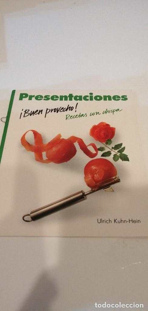 Libros de segunda mano: G-57 LIBRO PRESENTACIONES BUEN PROVECHO RECETAS CON CHISPA ULRICH KUHN-HEIN - Foto 2 - 210971401