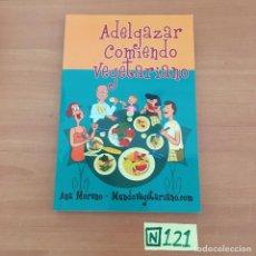 Libros de segunda mano: ADELGAZAR COMIENDO VEGETARIANO. Lote 211420636