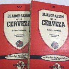 Libros de segunda mano: ELABORACION DE LA CERVEZA, 1947, DOS TOMOS. OBRA COMPLETA. KLUG, MARCHINO & CÍA, BUENOS AIRES. Lote 212465291