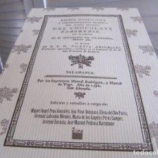 Libros de segunda mano: RECETA INSTRUCTIVA Y UNIVERSALMENTE BENÉFICA DEL NUEVO INVENTO DEL CHOCOLATE ZAMORENSE.152 PÁGINAS.. Lote 240707880