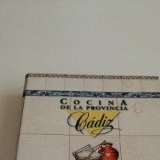 Libros de segunda mano: G-21 LIBRO COCINA DE LA PROVINCIA CÁDIZ - PLATO A PLATO. Lote 213406246