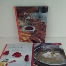 Libros de segunda mano: COCINAS DEL MUNDO .ESTADOS UNIDOS, FRANCIA Y JAPÓN. Lote 213761031