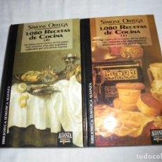 Libros de segunda mano: 1080 RECETAS DE COCINA 2 TOMOS.SIMONE ORTEGA.ALIANZA EDICIONES DEL PRADO 1993. Lote 213910845