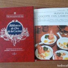 Libros de segunda mano: BIBLIOTECA DE ORO DE LA COCINA -TOMO 26 -VER DESCRIPCIÓN DE LAS RECETAS. Lote 214121278