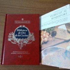 Libros de segunda mano: BIBLIOTECA DE ORO DE LA COCINA -TOMO 20 -VER DESCRIPCIÓN DE LAS RECETAS. Lote 214124478