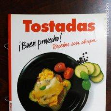 Libros de segunda mano: TOSTADAS. RECETAS CON CHISPA. CORNELIA ADAM. CIRCULO DE LECTORES. 1992.. Lote 214832353