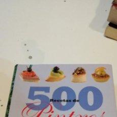 Libros de segunda mano: G-38 LIBRO 500 RECETAS DE PINTXOS Y TAPAS - PINCHOS MONTADITOS - COCINA GASTRONOMIA. Lote 217574252