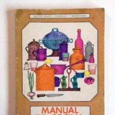 Libros de segunda mano: MANUAL DE COCINA - BACHILLERATO, COMERCIO Y MAGISTERIO. (VER ÍNDICE) AÑO 1969. Lote 218609898