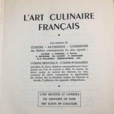 Libros de segunda mano: L'ART CULINAIRE FRANÇAIS - FLAMMARION 1950 - 3750 RECETTES - 216 GRAVURES - 1046 P. TEXTO EN FRANCÉS. Lote 221439773