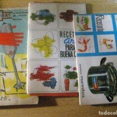 Libros de segunda mano: LOTE 3 RECETARIO LIBRO COCINA OLLA HISPANO SUIZA. , OLLA ARIN , BATIDORA MULTI BAT. Lote 223525168