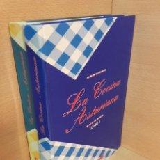 Libros de segunda mano: LA COCINA ASTURIANA - COLECCION COMPLETA, DOS TOMOS - VICTOR ALPERI - LA VOZ DE ASTURIAS. Lote 223866565