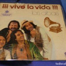 Libros de segunda mano: EXPRO LP LOS ALBAS VIVE LA VIDA IMPACTO DISCOS 1978 VINILO CORRECTO. Lote 224328087