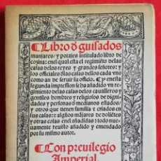 Livres d'occasion: LIBRO DE GUISADOS, CON PRIVILEGIO REAL (FACSÍMIL NUMERADO) - 1971 - ED. ESPASA CALPE - PJRB. Lote 224608671