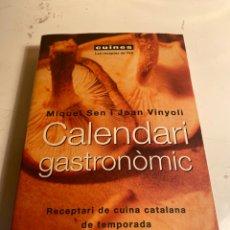 Libros de segunda mano: CALENDARI GASTRONOMIC. Lote 227603300