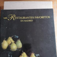 Libros de segunda mano: MIS RESTAURANTES FAVORITOS DE MADRID. ANSON. ACADEMIA ESPAÑOLA DE GASTRONOMÍA. 1997 276PP. Lote 227687940