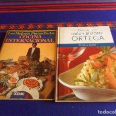 Libros de segunda mano: LOS MEJORES PLATOS DE LA COCINA INTERNACIONAL OCEANO. REGALO COCINAR CON INÉS Y SIMONE ORTEGA PASTAS. Lote 227843535