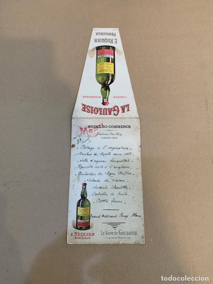 Libros de segunda mano: MENU MANUSCRITO HOTEL COMMERCE / MANUSCRITO / 31 ENERO 1914 / LICOR / LA VERRE DE GAULOISE: REQUIER - Foto 3 - 229996770