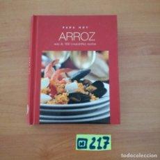 Libros de segunda mano: ARROZ. Lote 233381765