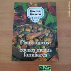 Libros de segunda mano: COCINA CASERA. Lote 233382235