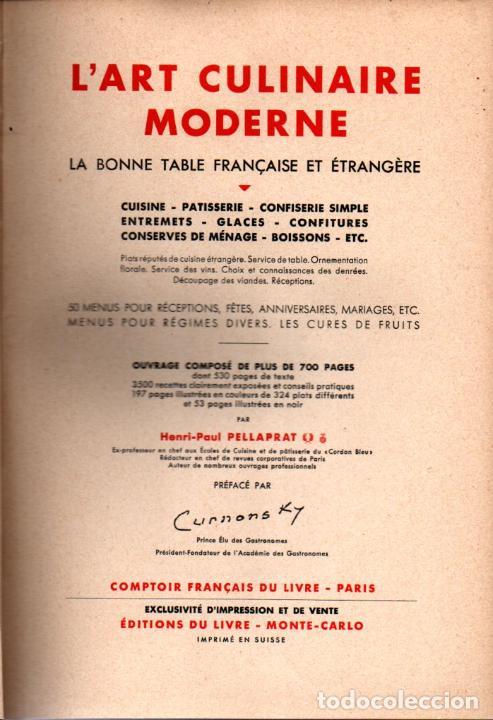 Libros de segunda mano: LART CULINAIRE MODERNE - LA BONE TABLE FRANÇAISE ET ÉTRANGERE (1937) - Foto 2 - 235407540