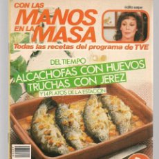 Libros de segunda mano: CON LAS MANOS EN LA MASA. Nº 89. DEL TIEMPO: ALCACHOFAS CON HUEVO. 5 FEBR.1986. (B/A57. Lote 237328505