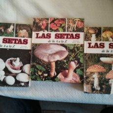 Libros de segunda mano: LAS SETAS DE LA A A LA Z - ED. NUEVA LENTE- OBRA COMPLETA- 3 TOMOS 1980.. Lote 237520310