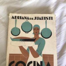Livros em segunda mão: ADRIANA DE JUARISTI COCINA 1962. Lote 238384715