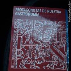 Libros de segunda mano: PROTAGONISTAS DE NUESTRA GASTRONOMIA - BODEGAS GANDIA - 60 FICHAS. Lote 240490930
