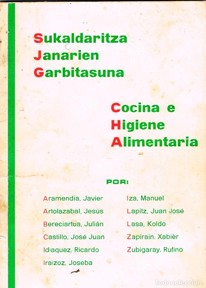 COCINA E HIGIENE ALIMENTARIA, CON RECETAS, VER INDICE (Libros de Segunda Mano - Cocina y Gastronomía)