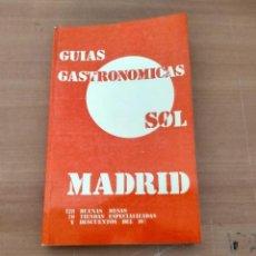 Libros de segunda mano: GUIAS GASTRONÓMICAS SOL MADRID. Lote 244461700