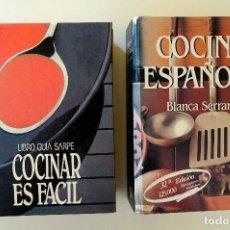 Libros de segunda mano: COCINAR ES FÁCIL. LIBRO GUÍA SARPE· PRESENTACIÓN JUAN MARI ARZAK + COCINA ESPAÑOLA. BLANCA SERRANO. Lote 244749780