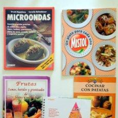 Libros de segunda mano: ZUMOS, BATIDOS Y GRANIZADOS DE FRUTAS Y VERDURAS + MICROONDAS + PATATAS + RECETAS CONSUM. Lote 244792610