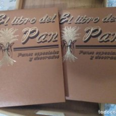 Libros de segunda mano: EL LIBRO DEL PAN PANES ESPECIALES Y DECORADOS, TOMOS 1 Y 2. Lote 244945465