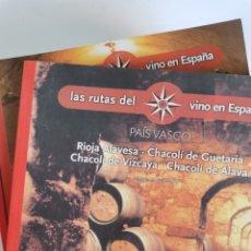 Libros de segunda mano: LOTE 21 LIBROS RUTAS DEL VINO EN ESPAÑA Y EN EL MUNDO. Lote 247497860