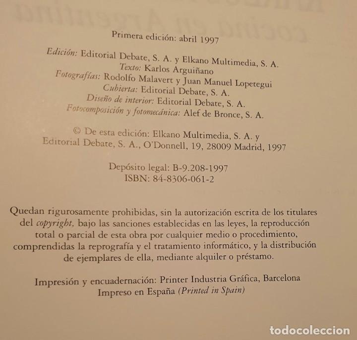 Libros de segunda mano: LIBRO KARLOS ARGUIÑANO COCINA EN ARGENTINA - 1ª EDICION 1997 - Foto 2 - 249221010