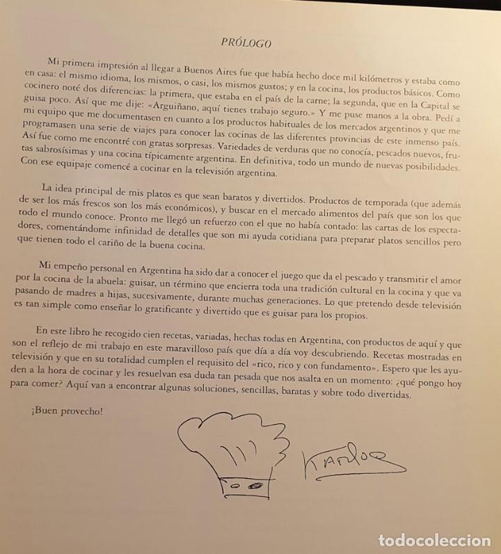Libros de segunda mano: LIBRO KARLOS ARGUIÑANO COCINA EN ARGENTINA - 1ª EDICION 1997 - Foto 7 - 249221010