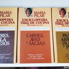 Libros de segunda mano: LIBROS MARÍA PILAR ENCICLOPEDIA BÁSICA DE COCINA. Lote 251042505