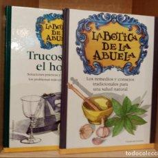 Libros de segunda mano: LOTE 2 LIBROS LA BOTICA DE LA ABUELA - EDITORIAL CIRCULO DE LECTORES. Lote 253657680