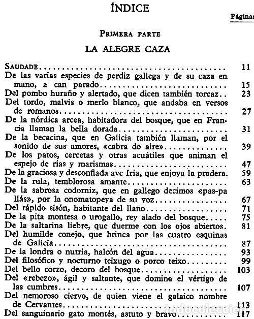 Libros de segunda mano: N551 - VIAJE POR LOS MONTES Y CHIMENEAS DE GALICIA. CAZA. COCINA. CASTROVIEJO. ALVARO CUNQUEIRO. - Foto 2 - 254438200