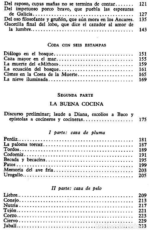 Libros de segunda mano: N551 - VIAJE POR LOS MONTES Y CHIMENEAS DE GALICIA. CAZA. COCINA. CASTROVIEJO. ALVARO CUNQUEIRO. - Foto 3 - 254438200