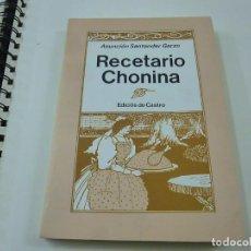 Libros de segunda mano: RECETARIO CHONINA : - SANTANDER GARZO, ASUNCIÓN.- N 13. Lote 257786385