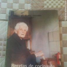 Libros de segunda mano: RECETAS DE COCINA DE ABUELAS VASCAS. JOSE CASTILLO.TOMO I ALAVA - NAVARRA. 1983. Lote 262809755